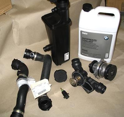 For E46 Cooling System Kit Water Pump Thermostat Radiator Hose Belt Antifreeze